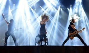 Epica se volvió a presentar en Asunción, después de más de dos años. Cabellos al viento, virtuosismo y emoción en el BCP.