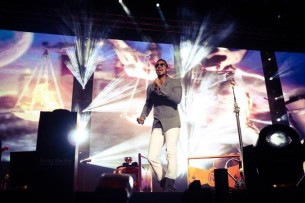 Unas 50.000 personas se agolparon en el Estadio Monumental para bailar al ritmo del popular artista latino Romeo Santos.