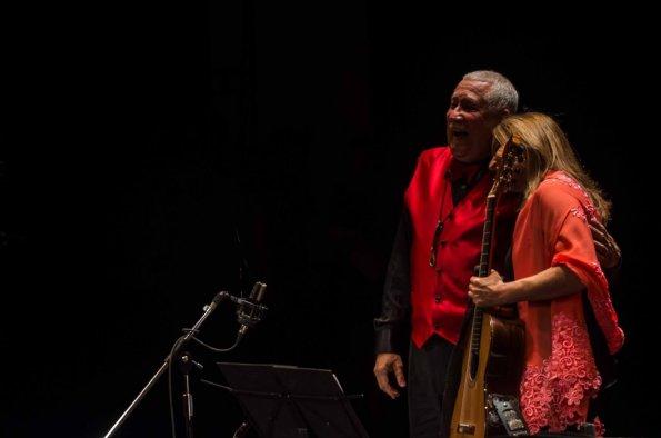 Berta Rojas y Paquito D'Rivera.